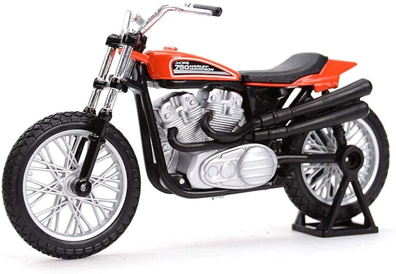 SHLINCar model Alloy Model Die Casting Model 1972 XR750 Racing Bike Motorcycle Model 1 18 Decoration Toy Gift for Boys Toddlers Kids (color   Red+Black)