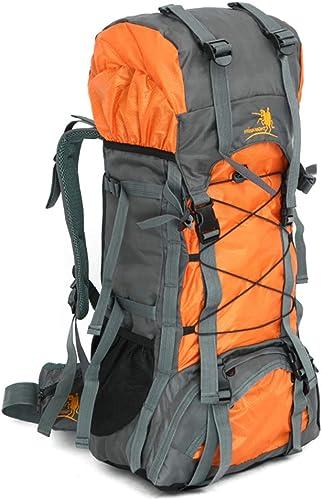 YNNB 60L Randonnée Trave Sac à Dos, Durable en Plein Air Durable Sac à Dos Résistant à l'eau Hommes Femmes Sports en Plein Air Daypack pour Camping Alpinisme Voyager Escalade,Orange
