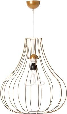 One Couture Design - Lampada a sospensione Scandi in metallo per soggiorno, colore: Oro