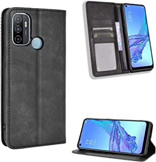 Wallet Case for Oppo A53s/Oppo A33 (2020) Case, Retro Style Wallet Magnetic Cover with Credit Card Slots and Flip Stand, L...