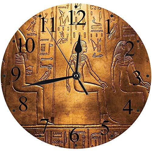 Yaoni Silencioso Wall Clock Decoración de hogar de Reloj de Redondo,Egipcio,...