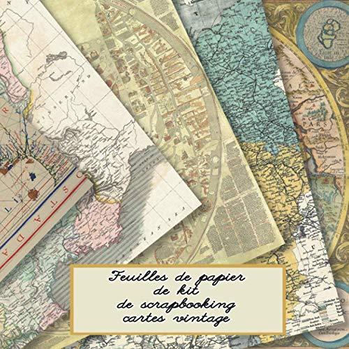 Feuilles de papier de kit de scrapbooking cartes vintage: Édition française - Kit de scrapbooking dans un livre pour créer des carnets de croquis - ... ou scrapbooking - Idéal pour les artisans