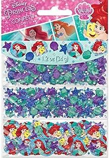Amscan Girls Enchanting Disney Ariel Dream Big Birthday Party Value Confetti Decoration (Pack of 1), Multicolor, 1 1/5 oz