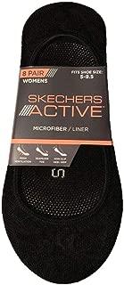 Active Women 8-Pair Microfiber Mesh Seamless Non-Slip Liner Socks