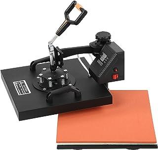 BHDK Machine de Presse à Chaud 5 en 1, pivotante à 360 degrés 38X38 Presse à Chapeau Machine à Chaleur Sublimation Combo T...
