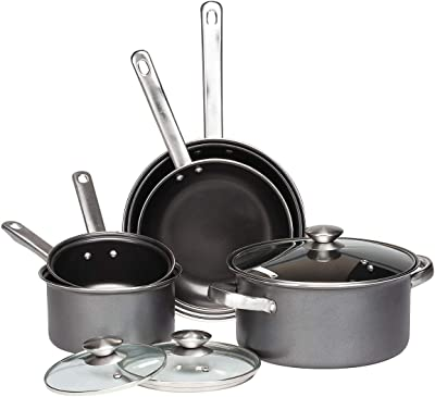 Gray Non Stick Cookware Set, 8 Piece by Home Style Kitchen