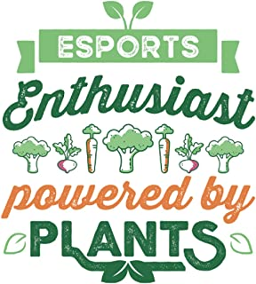 Esports Enthusiast powered by Plants Vegan Gift: 6x9 Notes, Diary, Journal 110 Page