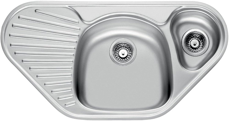 Franke Mikado MON 651 E Edelstahl Küchenspüle Spültisch Spülbecken Einbauspüle mit 1  Becken Textur Seiden