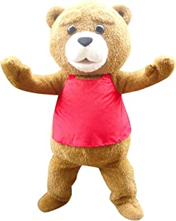 Sinoocean Teddy Bear Ted Adult Mascot Costume Cosplay Fancy Dress Outfit