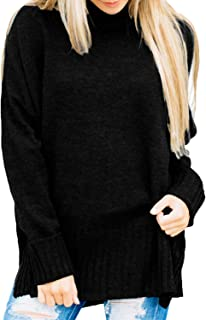 Womens Loose Oversized Casual Turtle Neck Sweater Pullover Top