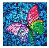 Pracht Creatives Hobby DD5-015 - Diamond Dotz Schmetterling, funkelndes Diamantbild zum Selbstgestalten, ca. 30,5 x 30,5 cm groß, Malen mit Diamanten, neuer und kreativer Basteltrend