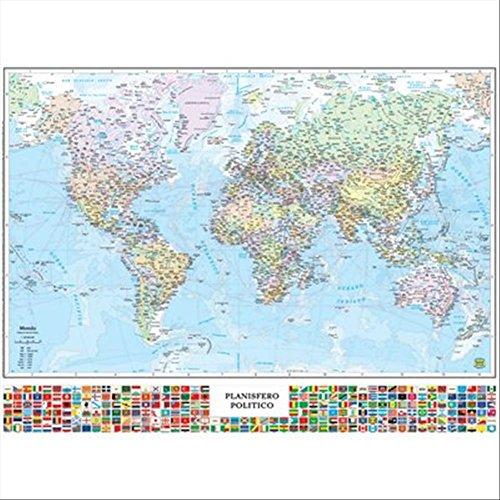Juliano Belletti SM07 F bureau-onderlegger, motief wereldkaart
