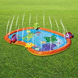 Alfombrilla de riego para juegos de agua, duradera, portátil, inflable, para rociar y salpicar, para piscina, verano, juguetes esenciales para niños, jardín, actividades familiares vida marina PVC