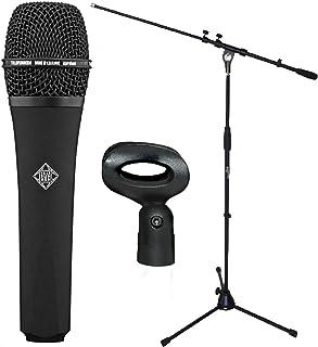Telefunken M80Black Micrófono + Soporte para micrófono Keepdrum