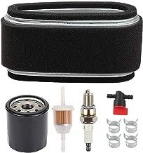 Mckin 11013-2141 Air Filter + 49065-2071 Oil Filter Tune Up Kit for Kawasaki FC400V FC401V FC420V 14HP 4-Cycle Engine John Deere 240 LX172 LX176 GT242 Lawn Mower