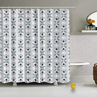C COABALLA Scandinavian Floral Background Mid Century Wallpaper Vector Modern Shower Curtain for Bathroom,72''L x 72''W