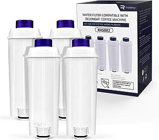 Rhodesy Filtres à eau RHS002, Filtre à eau Cartouche à Charbon Actif Compatible avec Machines à café ECAM, ESAM, ETAM, BC...