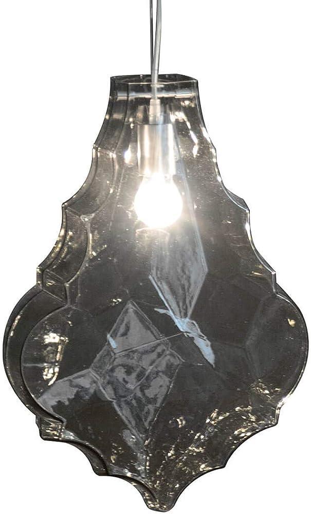 Karman 24 karati, lampada a sospensione ,in vetro fume` SE1041FINT