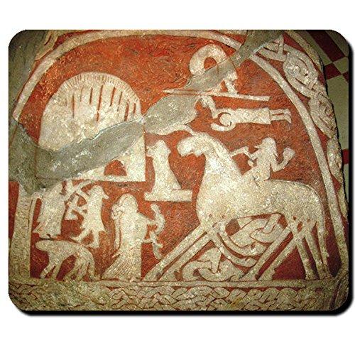 Copytec #16110 - Tappetino per il mouse con immagine di Asgard su pietra di Walhalla