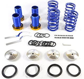 Adjustable Coilover Coil Springs Lowering Suspenion Kit for 1990-2001 Acura Integra Honda 1988-2000 Civic & 1993-1997 Civic del Sol & 1988-1991 CRX Blue-Blue-Silver
