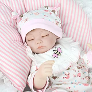 CHAREX Belly Reborn Baby Dolls Lifelike Baby Gift Set, 16'' Realistic Weighted Sleeping Reborn Baby Girl Doll for 3+