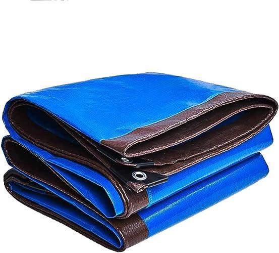 Bache De Prougeection Imperméable, Tarpaulin Waterproof Heavy Duty - Feuille de bache Bleue - Couverture de qualité supérieure Fait de 220 g mètre carré ZHANGQIANG (Couleur   A, Taille   5  6m)