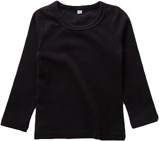 Camiseta básica de manga larga para niño