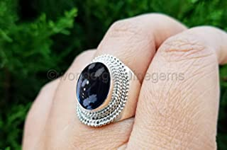 snowflake obsidian ring, 925 sterling silver, gemstone woman ring, designer handmade jewelry, filigree design ring, snowflake obsidian woman's ring, designer ring, healing ring, mother's day gift ring