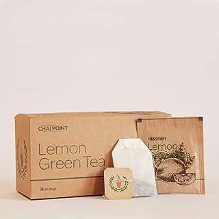 CHAI POINT Lemon Green Tea | 50 Tea Bags (Pack of 2) | Lemon Tea Bags | Lemon Tea Sachets