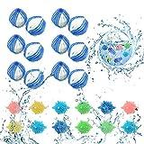 LATTCURE Waschmaschine Trockner Ball, Waschbälle, 10 Stück Waschkugeln Fusselbälle Reinigungs...