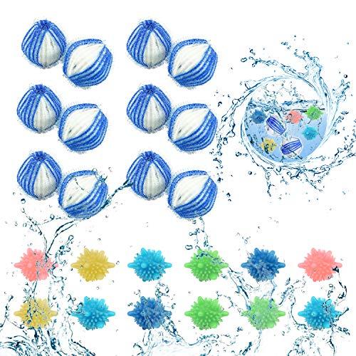 LATTCURE Waschmaschine Trockner Ball, Waschbälle, 10 Stück Waschkugeln Fusselbälle Reinigungs Ball, Wiederverwendbare Haustier Haarentferner, Tierhaarentferner Waschmaschine, Haarentfernung