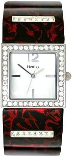 Henley Glamour Red & Black Shell-Print Brac Watch