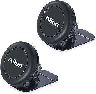 Ailun Car Phone Mount,Magnet Key Holder,[2Pack] Dashboard Magnetic Car Mount Holder,Compatible iPhone X/Xs/XR/Xs Max/8/7/6/6s Plus, Galaxy S10/S10+,S9/S9+,S8/S8+,S7/S7 Edge,&Other Smartphones[Black]