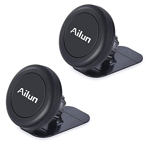 2Pack Siania 4336707146 Stick-on Dashboard Magnetic Car Mount Holder,Compatible iPhone X//Xs//XR//Xs Max//8//8Plus,7//6//6s Plus,Samsung S9//S9+,S7//S6 More Phones Black Ailun Mini Car Phone Mount,Magnet Key Holder,