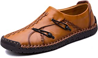860ffc9159344c Men s Vintage Casual Genuine Leather Driving Shoes Summer Loafer