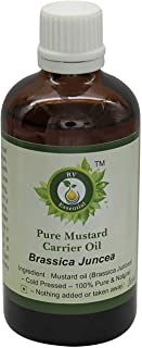 Mustard Oil | Brassica Juncea | Mustard Seed Oil | Unrefined | For Hair Growth | For Skin | For Massage | 100% Pure Natural | Cold Pressed | 5ml | 0.169oz By R V Essential