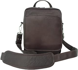 Piel Leather Traveler's Carry-All Bag, Chocolate, One Size
