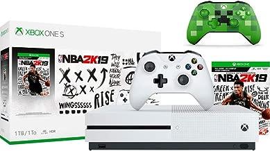 Microsoft Xbox One S 1TB NBA 2K19 Bundle + Xbox Wireless Controller - Minecraft Creeper | Include:Xbox One S 1TB Console ,NBA 2K19 Full-Game, Wireless Controller