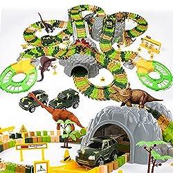 2. Temi Dinosaur Race Track Playset (348pcs)