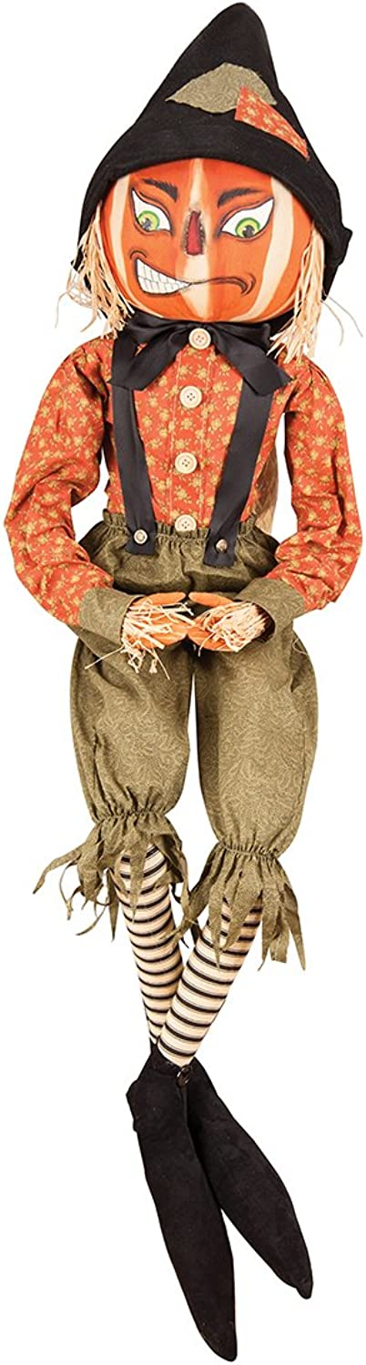 Gallerie II Gathered Traditions Riley Scarecrow Collectible Figurine, orange