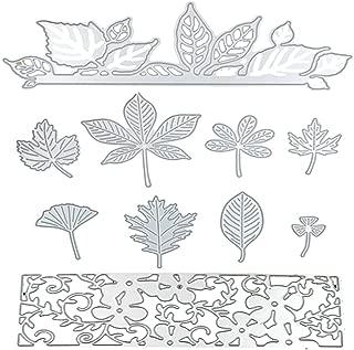 Dies Cut Metal Cutting Dies Stencils Leaves Leaf Flowers for DIY Scrapbooking Photo Album Decorative Embossing DIY Paper Cards Craft (Dies 18)