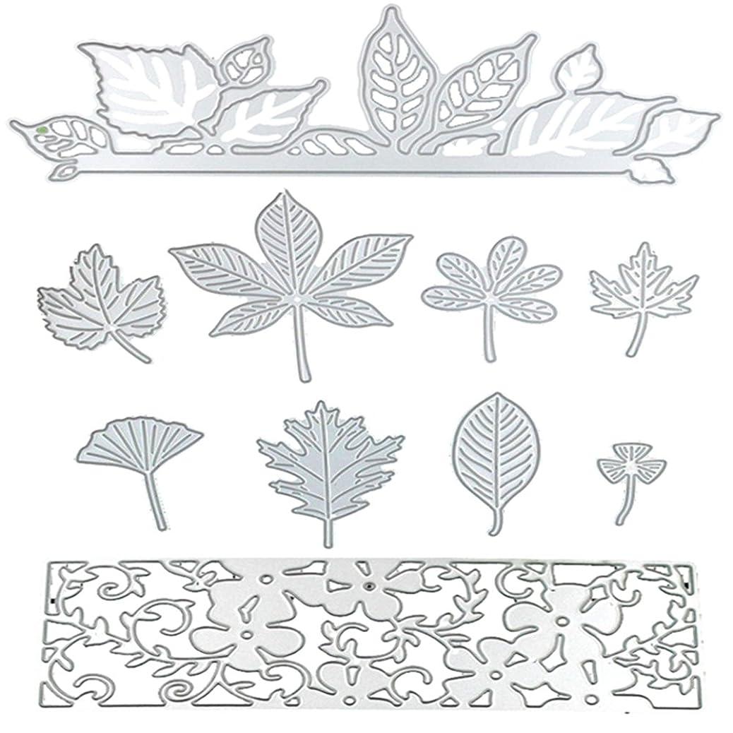 Dies Cut Metal Cutting Dies Stencils Leaves Leaf Flowers for DIY Scrapbooking Photo Album Decorative Embossing DIY Paper Cards Craft (Dies 18) gxvprfahjr
