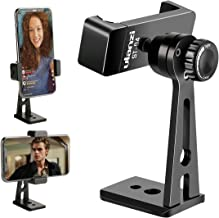 Ulanzi ST-04 Aluminum Smartphone Tripod Mount Adapter Vertical Video Bracket Cell Phone Clip 360 Degree Smartphone Video Tripod Clamp iPhone Xs Xs Max XR 8 Android Instagram IGTV Livestreaming