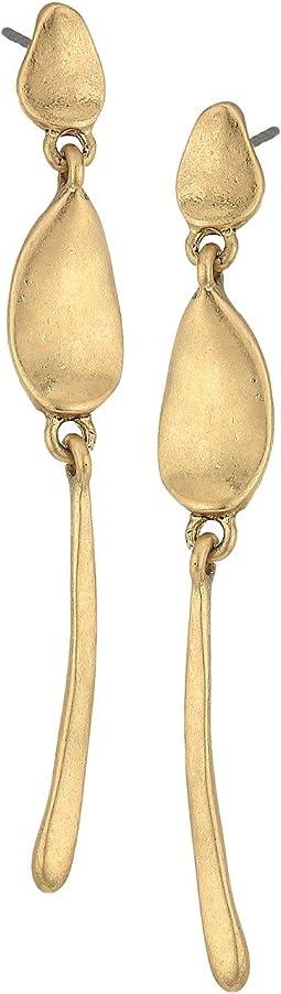 Metal Post Linear Earrings