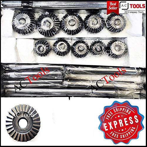 Preisvergleich Produktbild Ventilsitzfräser Satz mit Messern für Oldtimer und Motorräder Erstbezug Kohlenstoff Cutter (10-teiliges Set)