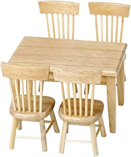 Domek dla lalek DIY drewniany zestaw meble jadalnia domek dl