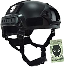 ATAIRSOFT PJ Type Tactical Airsoft Paintball MICH 2001 Helmet with Side Rail & NVG Mount