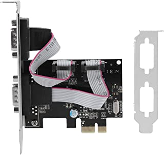Diyeeni PCI-E a RS232 Convertidor de Puerto Serie de 2 Puertos Tarjeta de Expansión del Adaptador del Controlador PCI Express