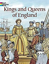 kings and queens of England history coloring book
