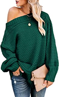 Best chunky knit off shoulder sweater Reviews